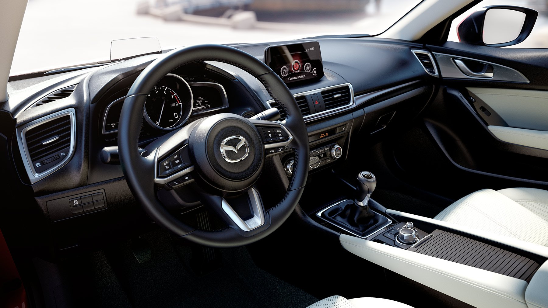 2018 Mazda 3 Sedan Interior White Leasetechs