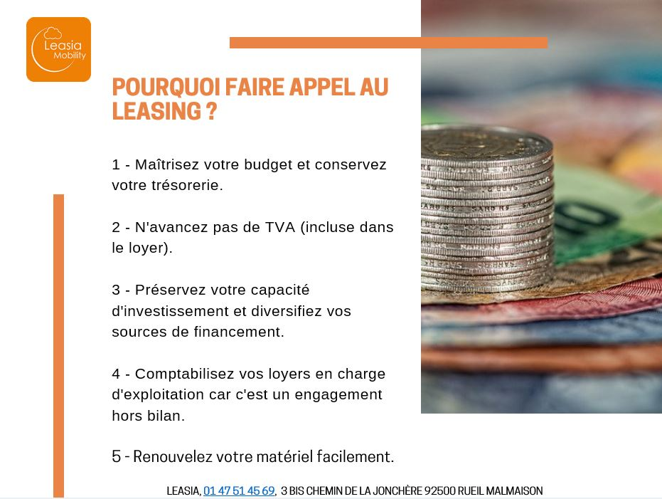 Pourquoi faire appel au leasing ?