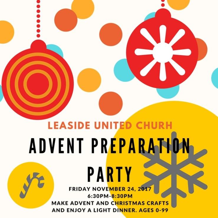 Advent Prep Party 2017