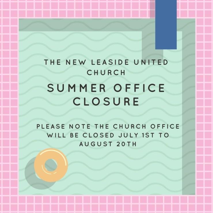 Summer Office Closure