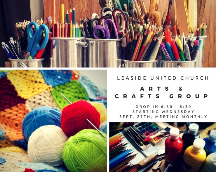 Arts & Crafts Drop In – Wednesday October 25, 2017 6:30-8:00pm