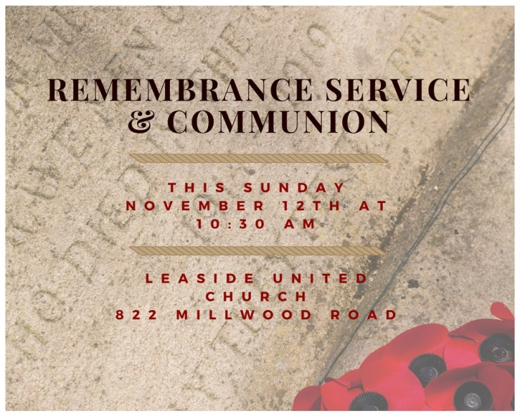 Remembrance Service & Communion