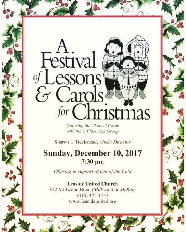 Lessons & Carols – Sunday December 10th @ 7:30pm