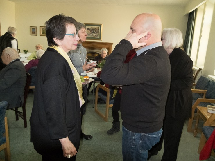 A Cozy Welcome Back for Rev. Rose Ann Vita