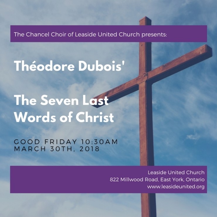 Good Friday – The Seven Last Words of Christ