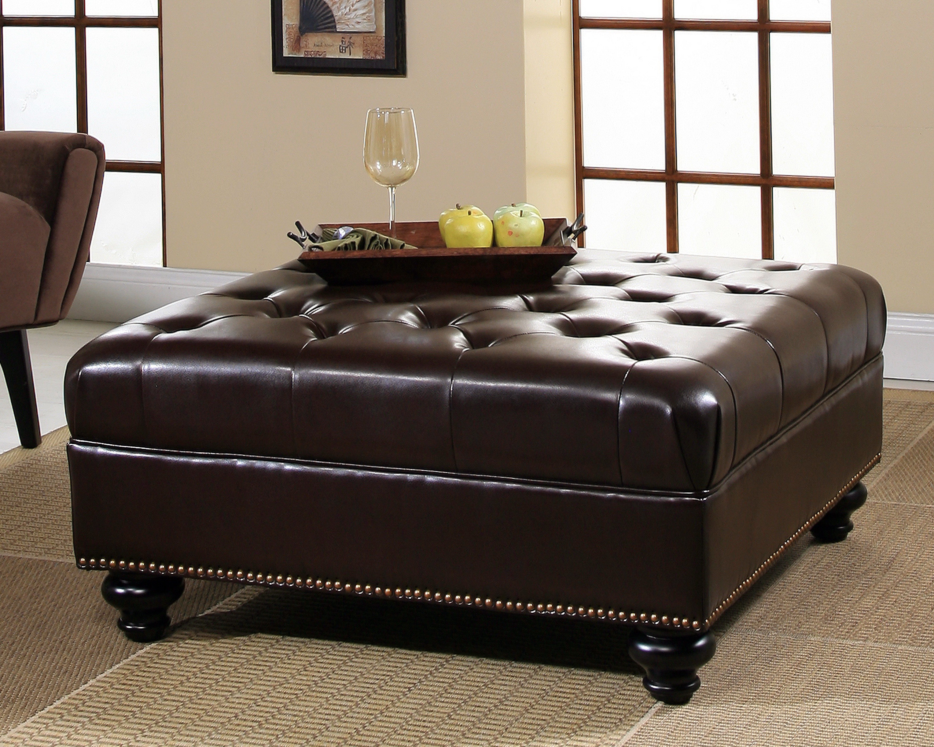 leather ottoman furniture guide