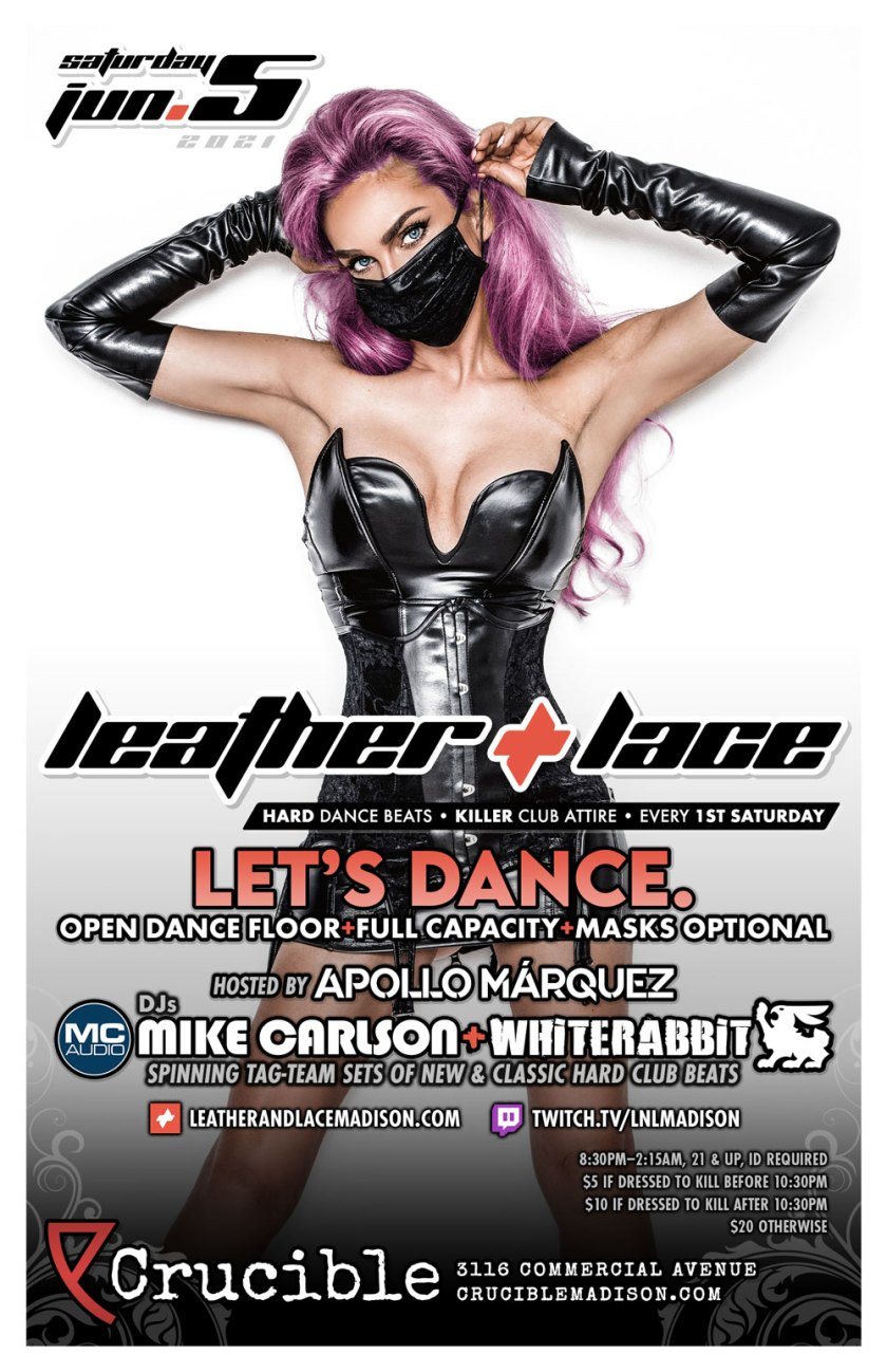 Leather + Lace: LET'S DANCE – June 5th, 2021