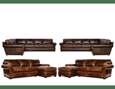 sedona oversized seating leather sectional