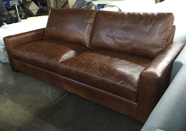 90 inch braxton twin cushion leather