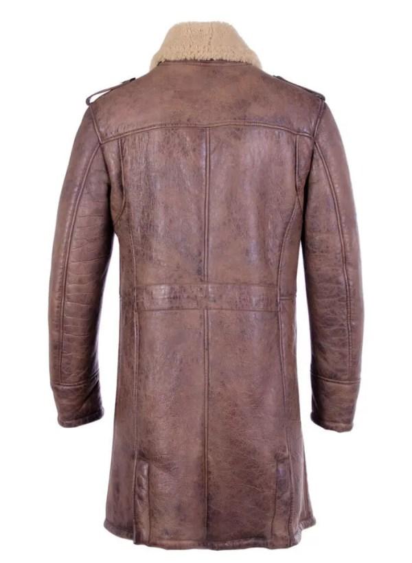 Shearling-Trench-Coat-Men-Black-Leather-Jacket-Back