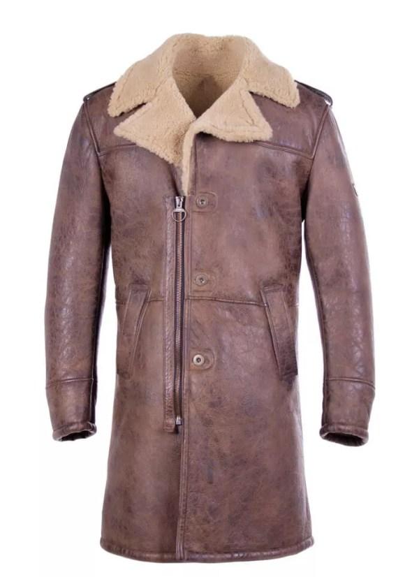 Shearling-Trench-Coat-Men-Black-Leather-Jacket-Collor