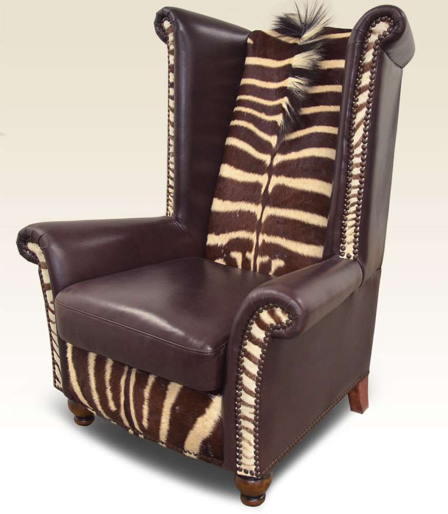 Safari Furniture Collection King Chair Zebra The
