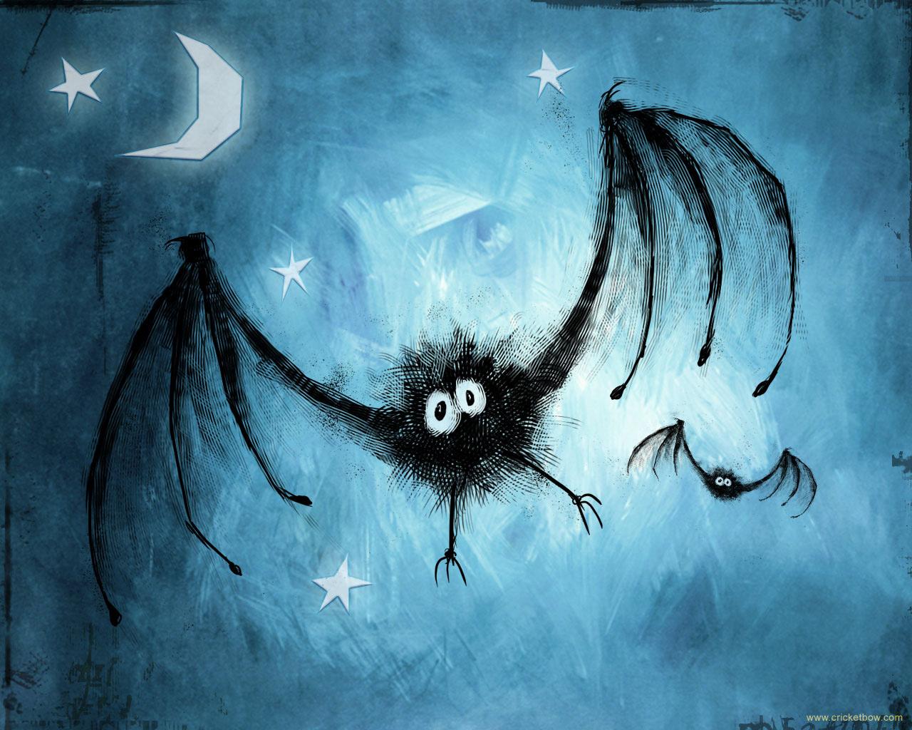 Spoooooky bat... actually no, he's really kinda cute isn't he? Let's call him Ferdinand!