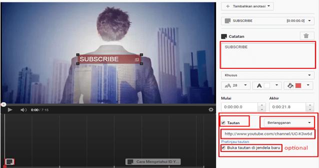 Cara Membuat Tombol Subscribe Di Video Youtube 02
