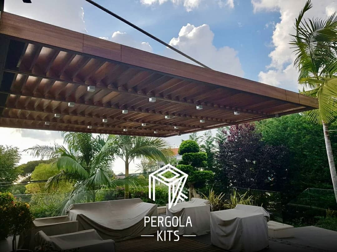 Suspended With Louvers Roofing Pergola Kits