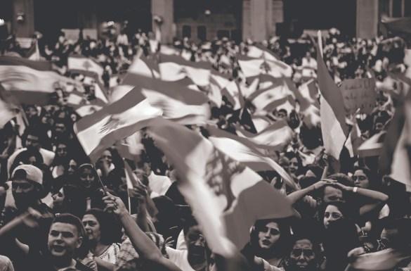 Lebanon Law Review | Lebanon | Lebanese Flag Protest Freedom Patriotism