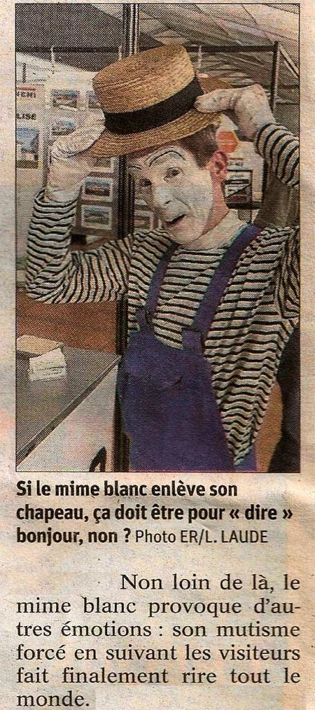 2019 animation Mime Suiveur Haute Foire Pontarlier artiste Mime Philippe Pillavoine Bourgogne-Franche-Comté Doubs article presse est républicain ludovic laude