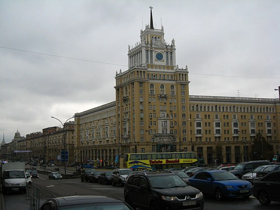 We surfaced to the presence of this grand building, some nice soviet architecture.