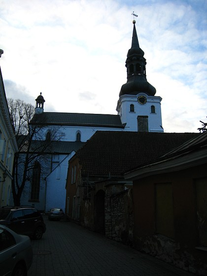 A Lutheran church that attracted me before I even saw it. Out of nowhere I began to hear faint organ sounds. I told John we had to investigate. Inside, the organist was practicing and it was relaxing to hear him/her play while we walked around inside. The church was a fresh change to the usual orthodox churches we had been visiting. Instead of the round domes we were used to, everything came to a point: the tops of the pews were shaped like /\ except the lines had a little curve to them. So it was sort of like a semi-circle squished to a point. I vaguely remember this being associated with Puritan churches?