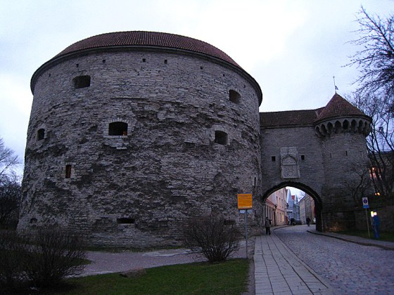 "The widest tower in Tallinn, it's called ""Fat Margaret."" There's a naval and boat museum inside it that we were able to visit the next day."