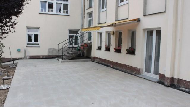 Terrassensanierung, Gartengestaltung und Kanalerneuerung Wien