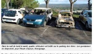 voitures incendiees au beausset le 7 décembre 2010