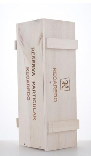Holzkiste für eine Flasche Reserva Particular NV  –  Recaredo