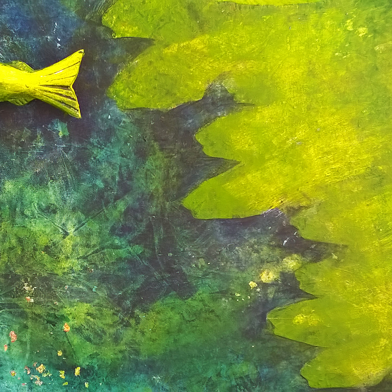 "meereswesen | 2018 | Acryl auf Sperrholz Grundformat 110x160 cm | ""meereswesen""©Raphaela C. Näger2018"