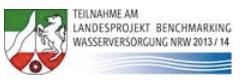 Teilnahme-Logo des Landesproduktes Benchmarking Wasserversorgung NRW