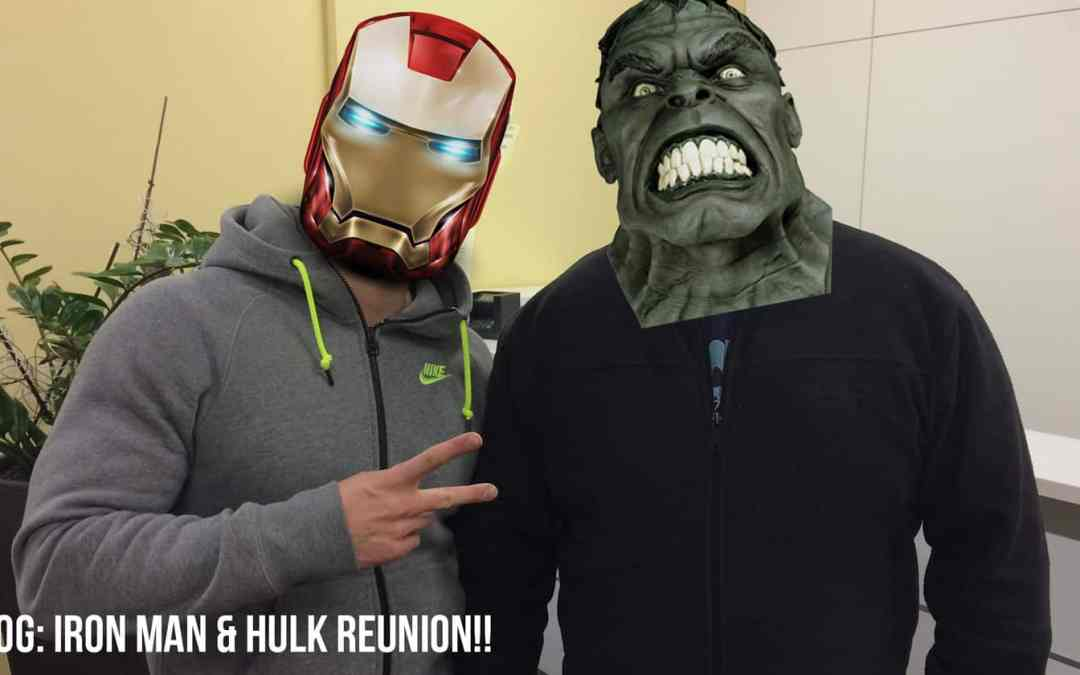 VLOG: Iron Man & Hulk Reunion!!