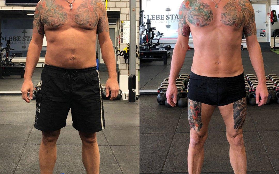 Andys brachiale Veränderung in 14 Wochen