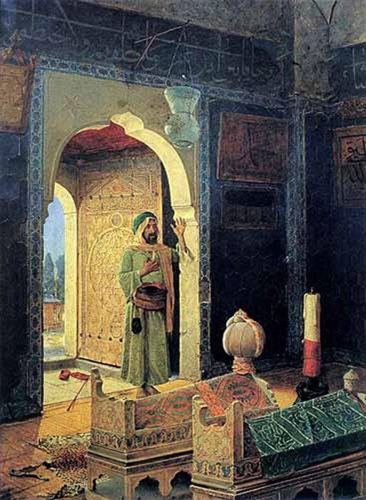 osman hamdi bey şehzade türbesinde derviş