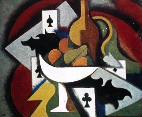 Nurullah Berk, İskambil Kagitli Naturmort, 1933