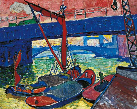 André Derain, Barges On The Thames, 1906