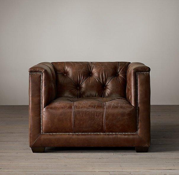 Fauteuil Club En Cuir Style Art Dco Savoy Chair