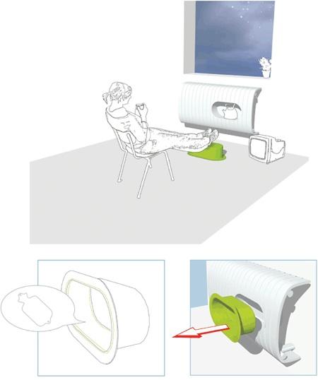 fedora heater design by Christine Birkhoven