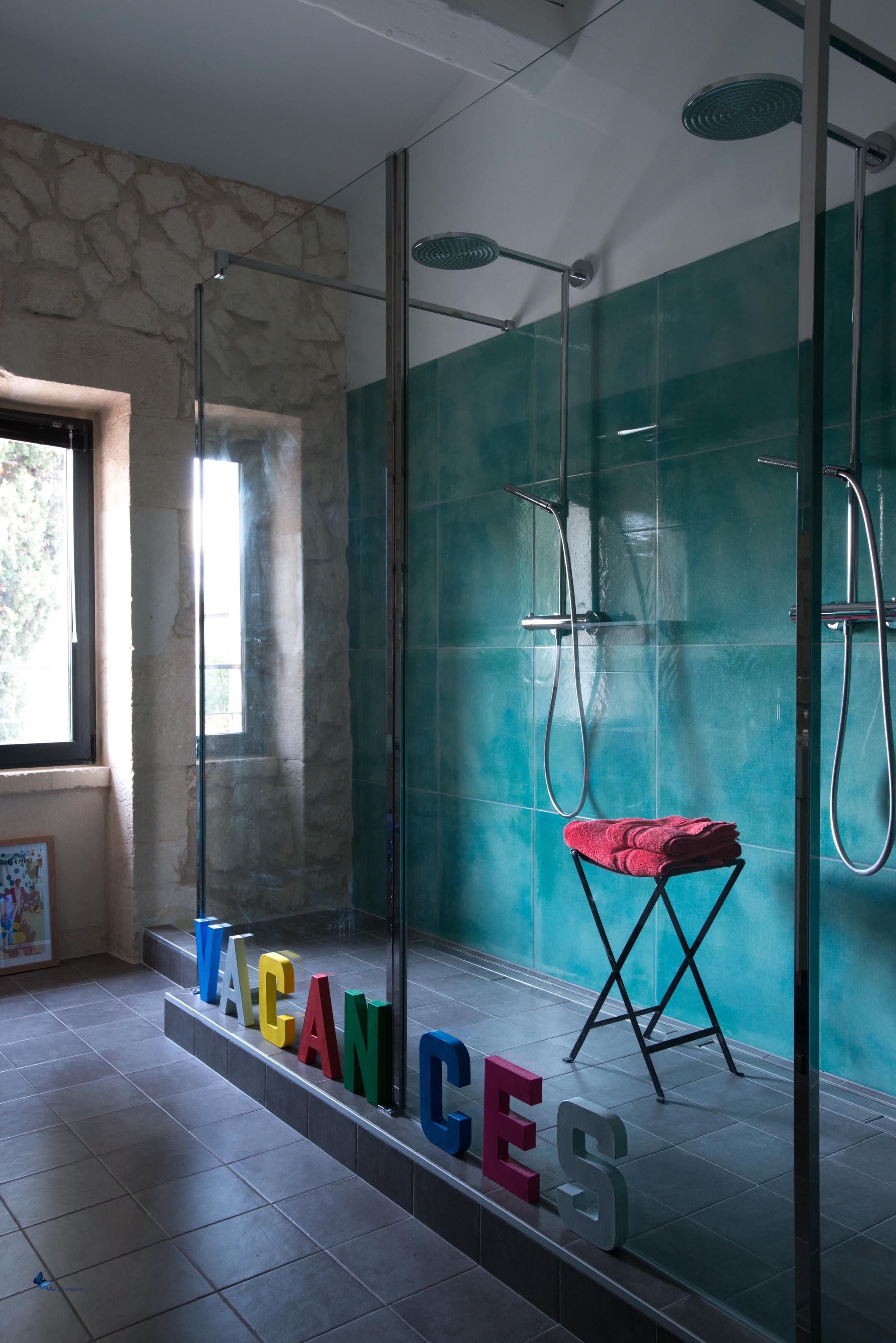 Déco Chambre et Salle de bain turquoise - couleur peinture