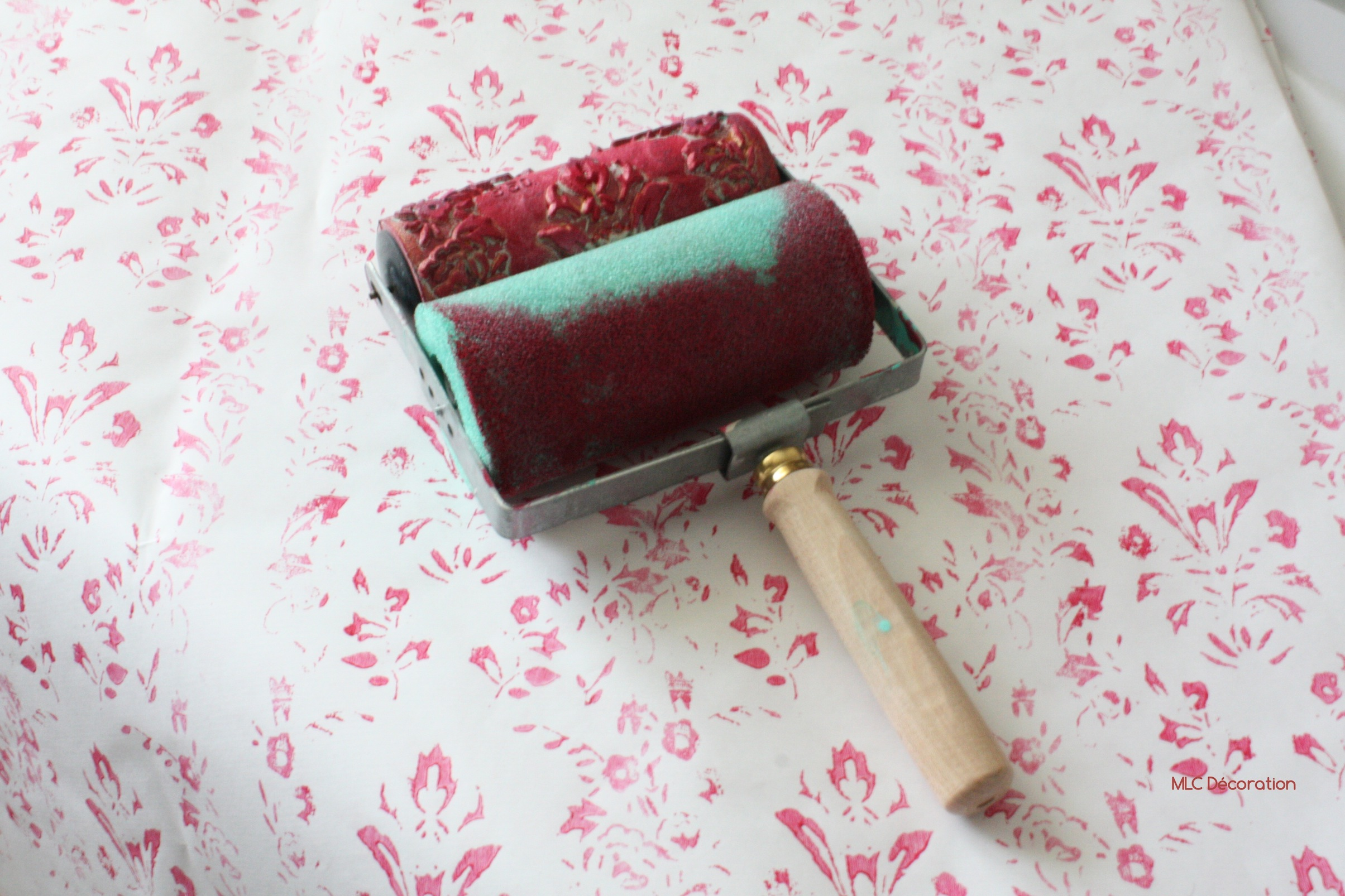 Papier A Peindre Motif j'ai testé le rouleau imprimur de little shop of colors