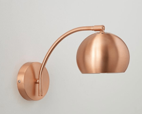 luminaire cuivre nouveauté lampe applique la redoute