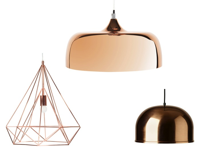 luminaire cuivre nouveauté suspensions