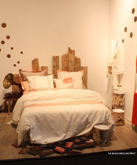 tete de lit planche bois