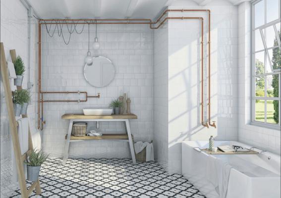 cuivre-tube-robinetterie-salle-de bain-deco-Vives-Azulejos