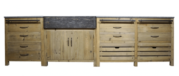 cuisine meuble independant bois recycle