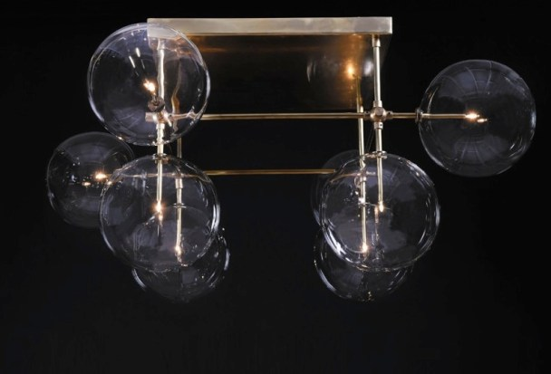 lustre-design-metal-et-verre-bulle