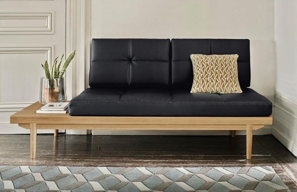 la jolie banquette lit faon cuir nouveaut with banquette lit exterieur. Black Bedroom Furniture Sets. Home Design Ideas