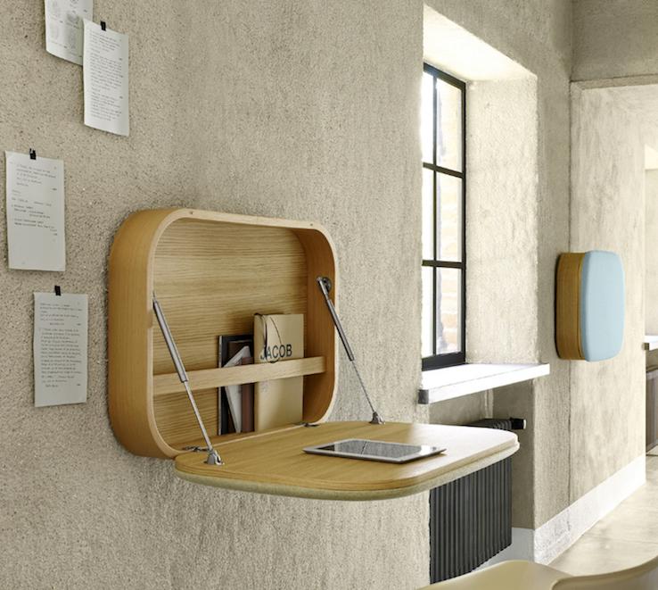 bureau mural bois