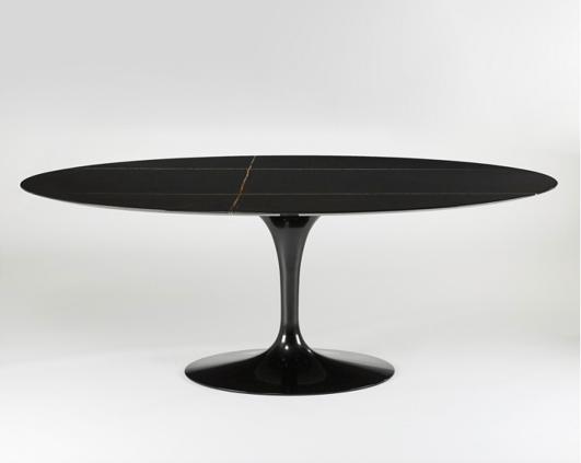 table salle a manger knoll table ovale marbre noir - Blog ...