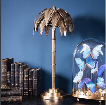 lampe palmier design laiton objet de curiosité