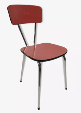 chaise formica rouge
