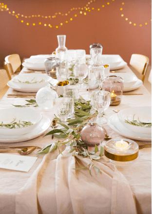 decoration-de-table-de-noel-rose